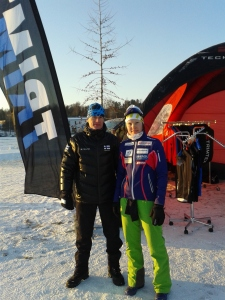 Kuvassa mukana Trimtexin Ben Lindström. Vantaan SM_kisoissa.
